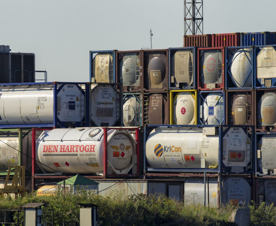 Large tanks in depot